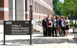 Group in front of the College of Medicine Research Building.